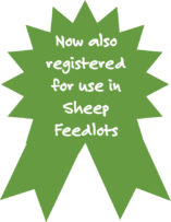 Now registered for use in Sheep Feedlots